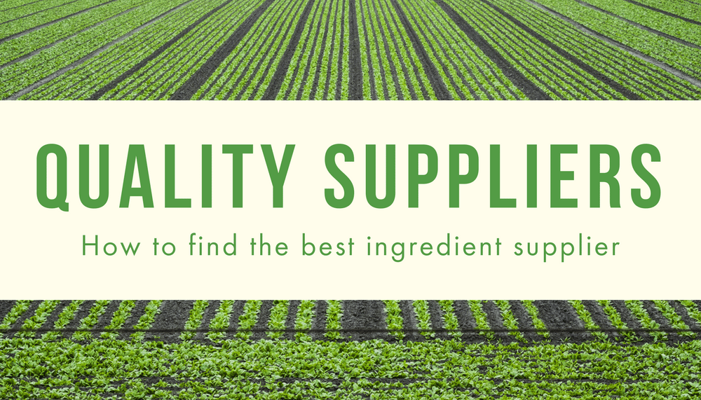 What to Look for in a Quality Ingredient Supplier
